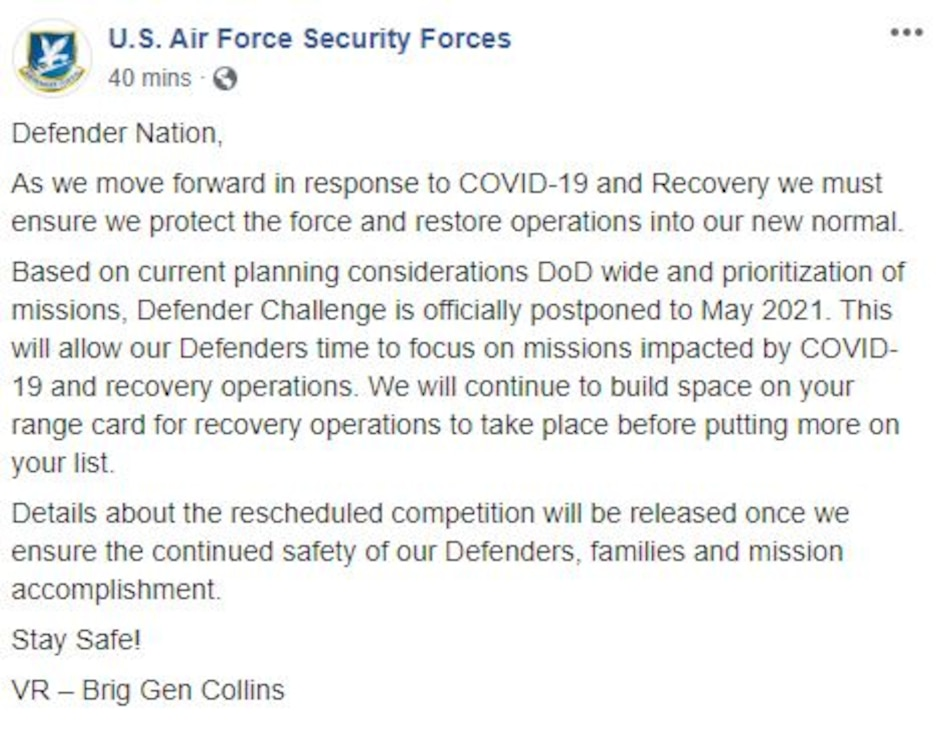 Facebook post - AF/A4S