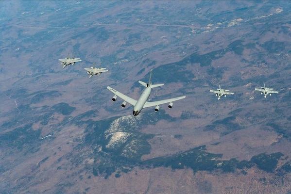 A bi-national Canadian and American command, NORAD employs a network of space-based, aerial and ground-based sensors, air-to-air refueling tankers and fighter aircraft, controlled by a sophisticated command and control network to deter, detect and defend against aerial threats that originate outside or within North American airspace.