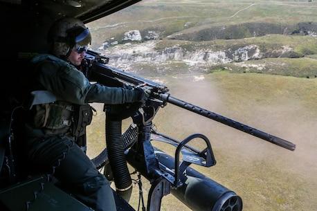 Aerial gunnery training over San Clemente Island