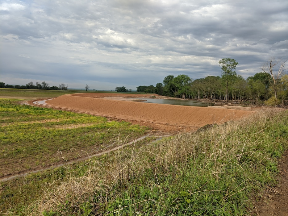 initial work complete at McLean Bottom Levee