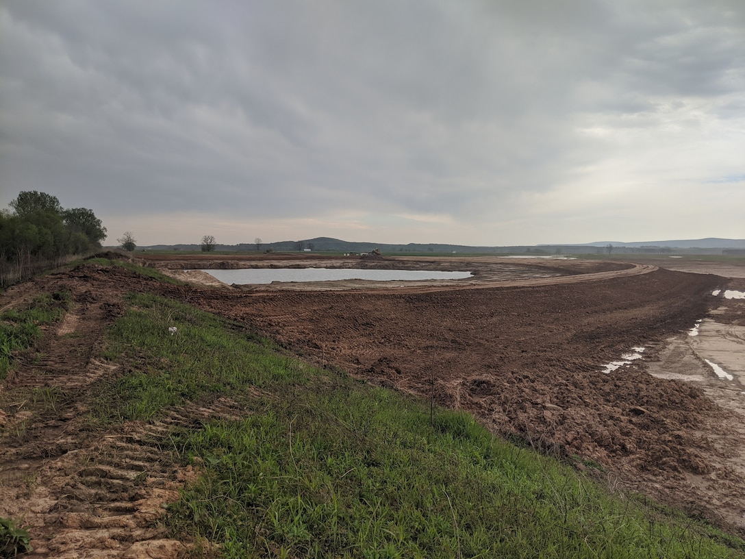 initial work complete at McLean Bottom Levee