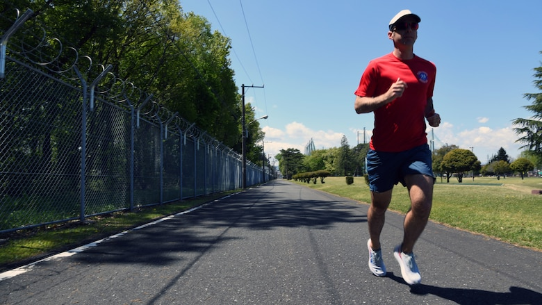 After an ultra-marathon at the Fuji Five Lakes near Mt. Fuji, Japan was cancelled due to COVID-19, Gulledge optimized his training to run 62 miles at the Yokota Air Base Par Three Golf Course.