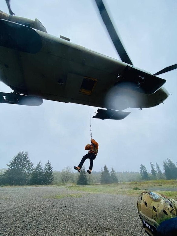 Pararescuemen from the 304th Rescue Squadron train for the upcoming climbing season at Mount Rainier in support of the National Park Service. (Courtesy photo)