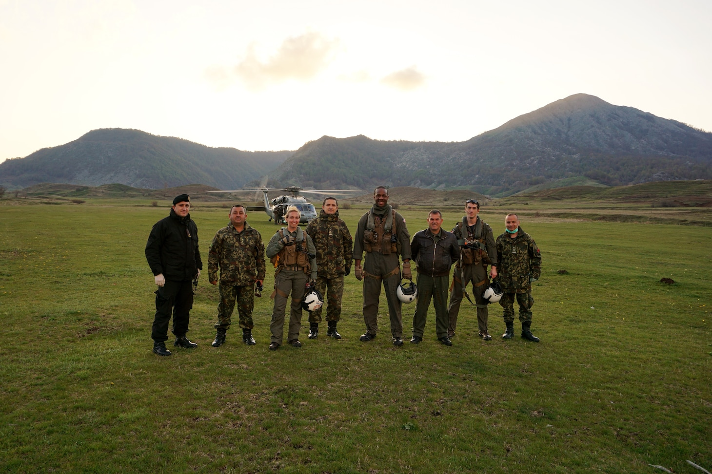 HSC-28 and Albanian military Gun Exercise