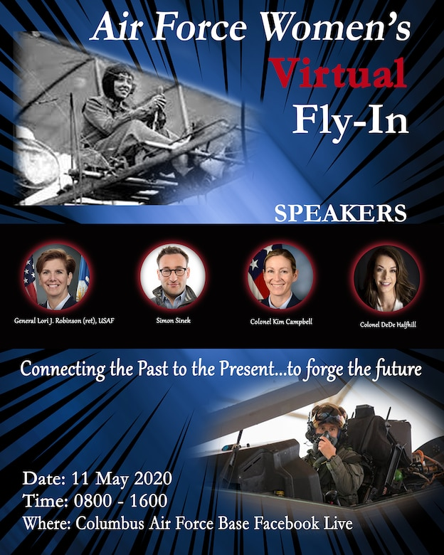 graphic depicting guest speakers for women's fly in