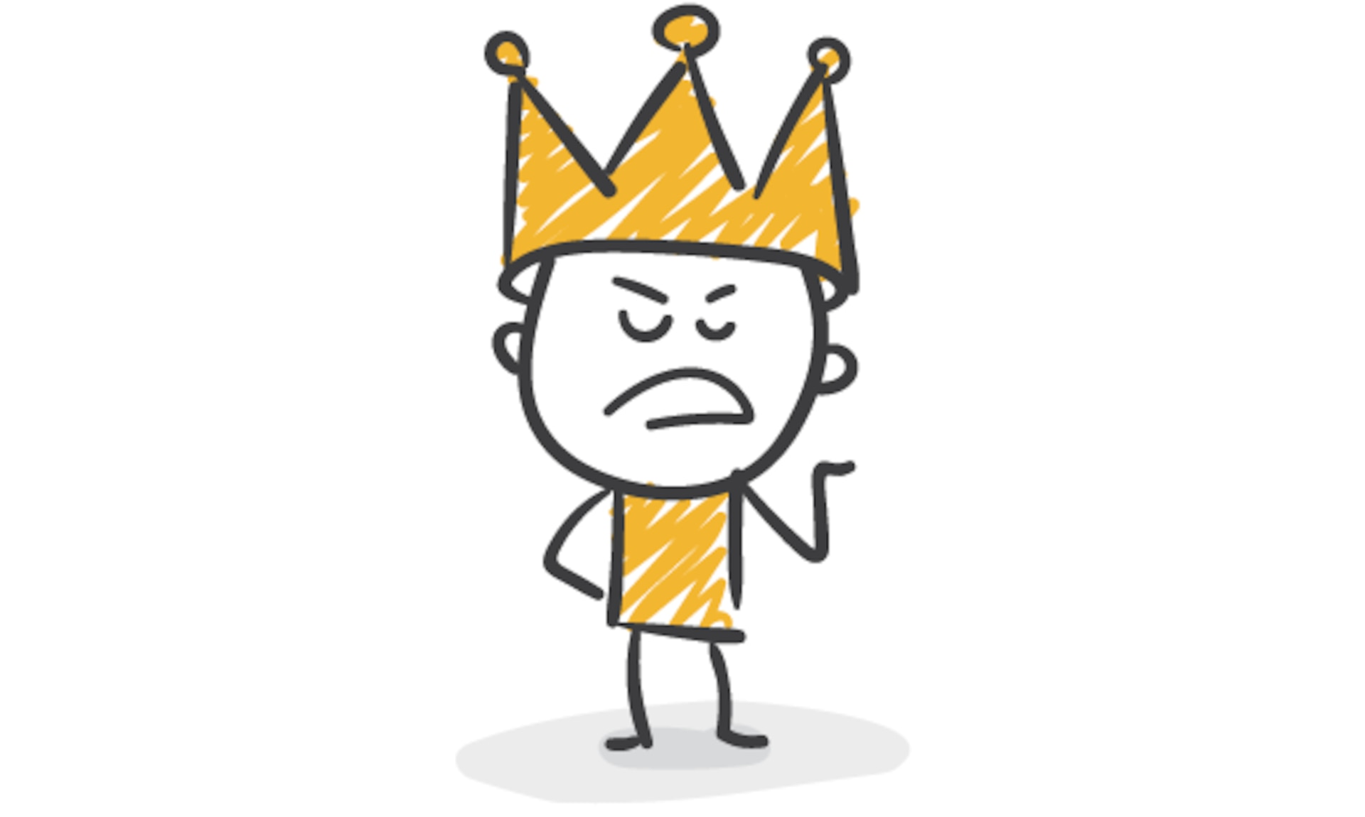 a graphic of a character with a crown on its head