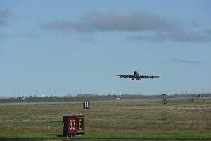 ELS- Stratotanker takeoff form airfield.
