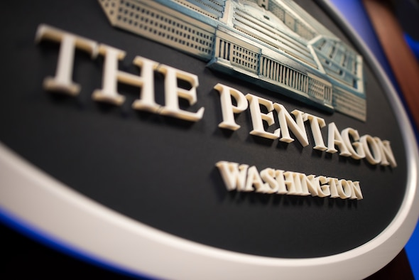 Seal of the Pentagon, left view.
