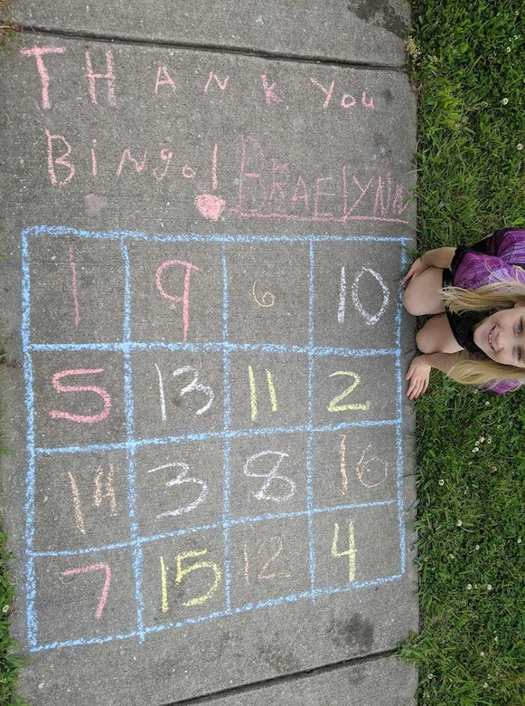 Photo of chalk drawings