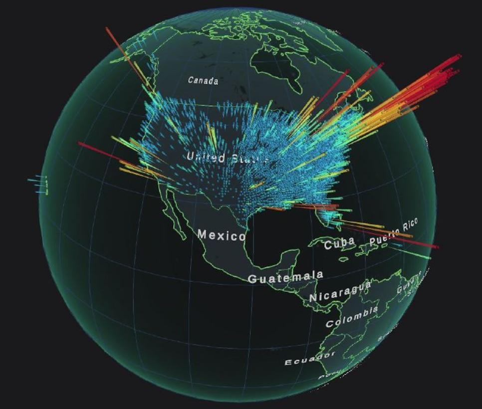 Graphic of virtualitics heat map.
