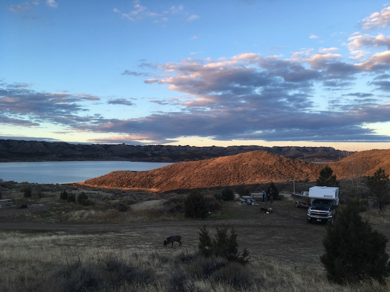 Campers at Bonetrail on Fort Peck Lake
