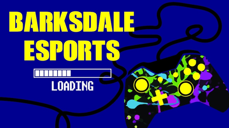 A Barksdale esports graphic is pictured. (U.S. Air Force graphic by 2nd Lt. Lindsey T. Heflin)