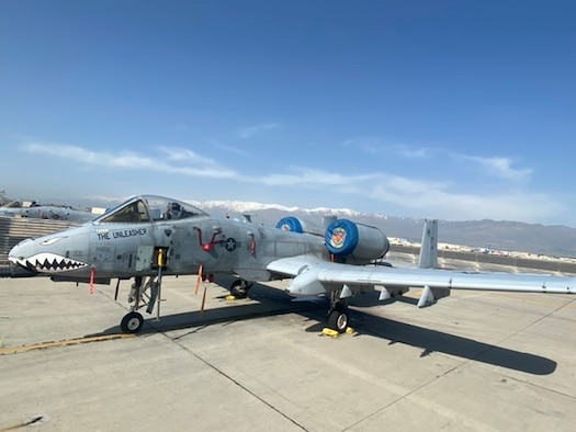 An A-10 was returned to operations after a remote airworthiness assessment during telework operations.  (courtesy photo)