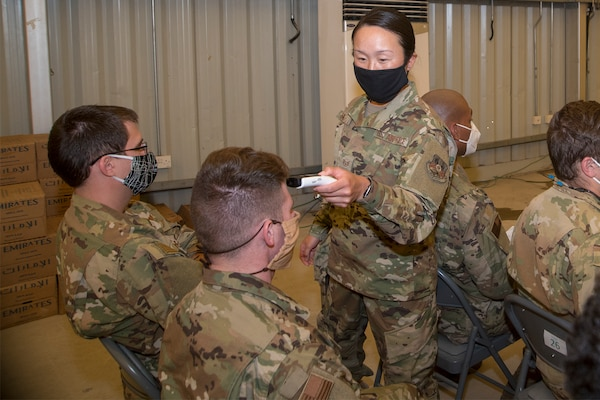 380th AEW executes COVID-19 prevention measures during deployment