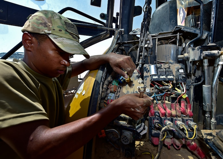 The vehicle maintenance section serviced approximately 500 vehicles in July to ensure every unit on base is mission ready.