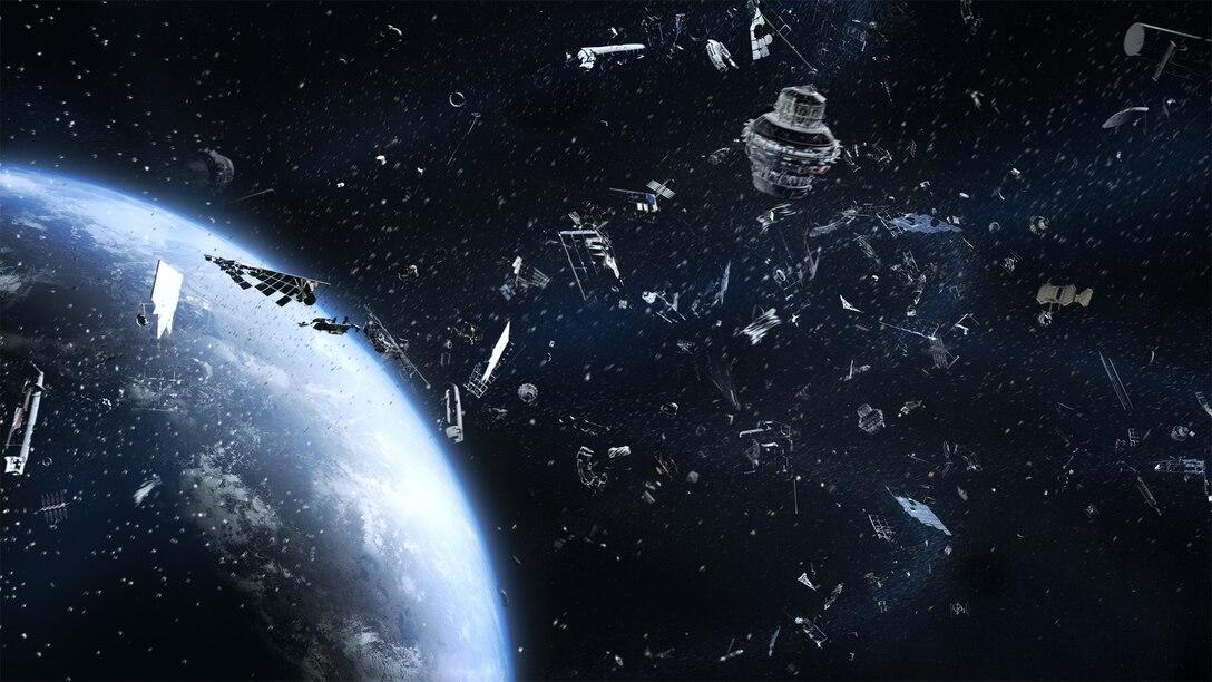 Space junk clogs space orbit