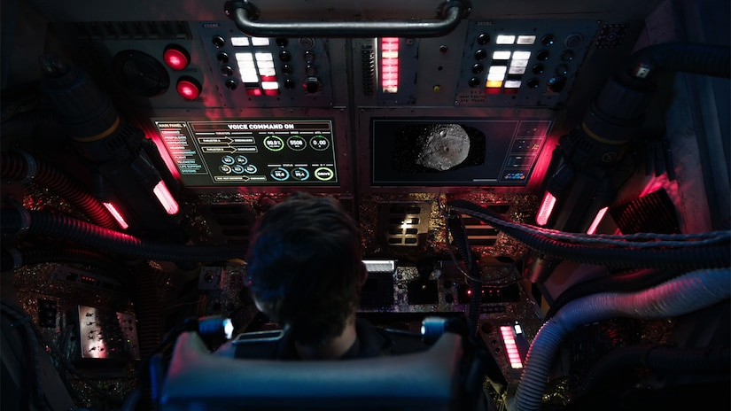 Cockpit view of the USS X-101