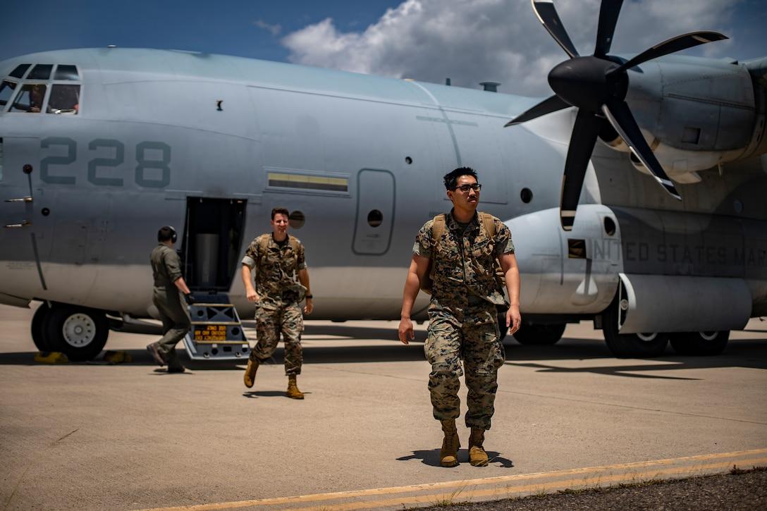 Task force US Marines land in Honduras