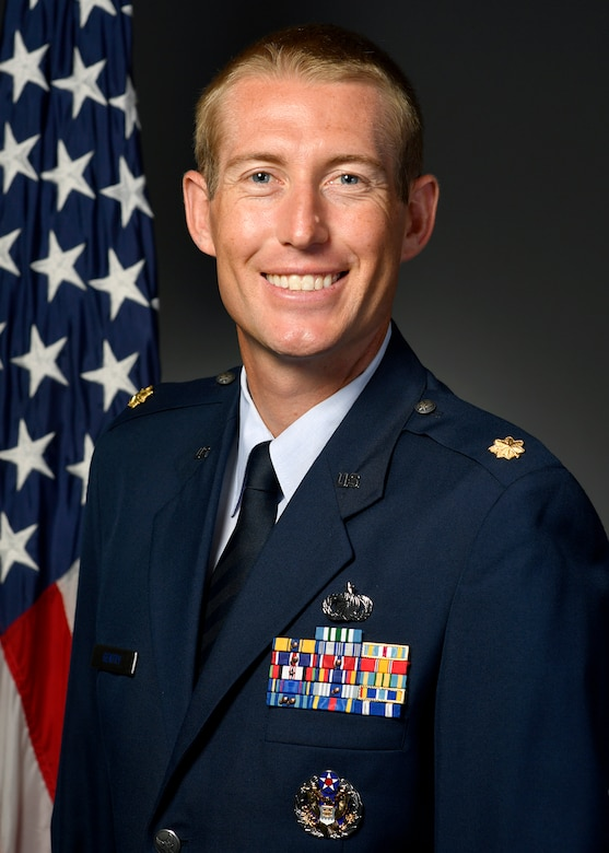 Maj. Michael Gentry, 354th Contracting Squadron commander, is shown in his official military photo.