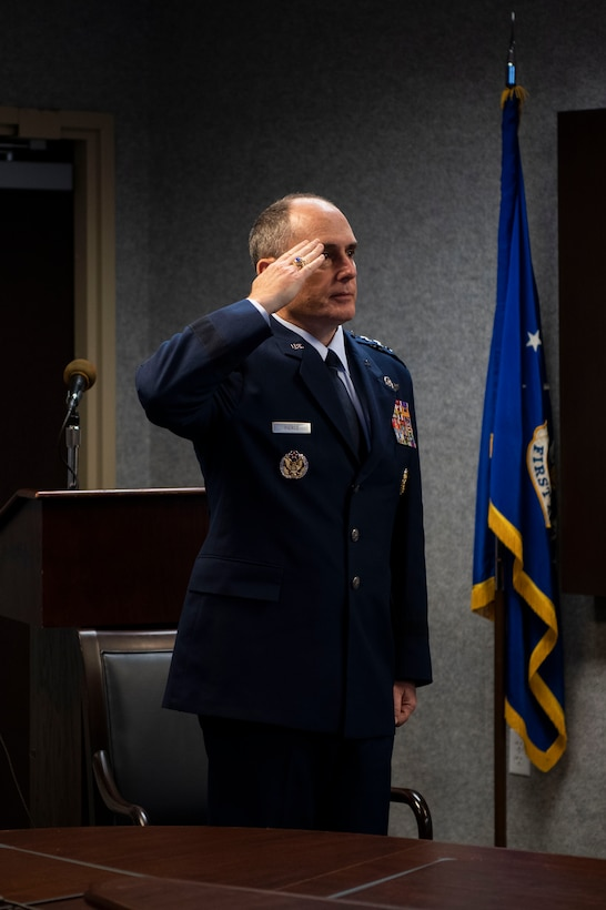 Lt. Gen. Kirk Pierce takes command of st Air Force and Continental U.S. North American Aerospace Defense Command Region.