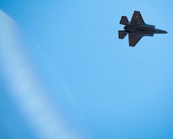 Aircraft soaring over Luke AFB
