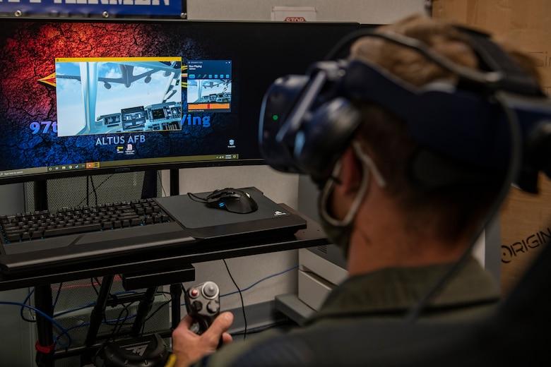 Virtual reality pilot training.