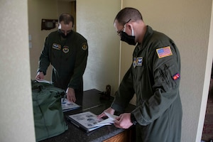 Airmen from the protocall office