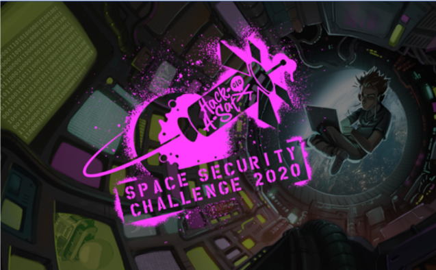 "On Aug. 7 to 9, 2020, the Department of the Air Force and DOD's Defense Digital Service will premiere the Space Security Challenge 2020, a mixture of virtual workshops and prize challenges related to securing space systems, including a live capture-the-flag style satellite hacking competition dubbed ""Hack-A-Sat."" (U.S. Air Force courtesy graphic)"