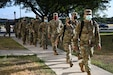 U.S. Army Reserve Soldiers assigned to Urban Augmentation Medical Task Force-7452, mobilized from San Diego, Calif., arrive in San Antonio, Texas, July 27, 2020. The UAMTF-7452 is supporting DHR Health in Edinburg, Texas as part of the Department of Defense support to the Federal Emergency Management Agency response to COVID-19. Northern Command, through U.S. Army North, remains committed to providing flexible Department of Defense support to states in need as well as the Federal Emergency Management Agency in support of the whole-of-nation COVID-19 response. (U.S. Army photo by Sgt. 1st Class Kenneth Scott)