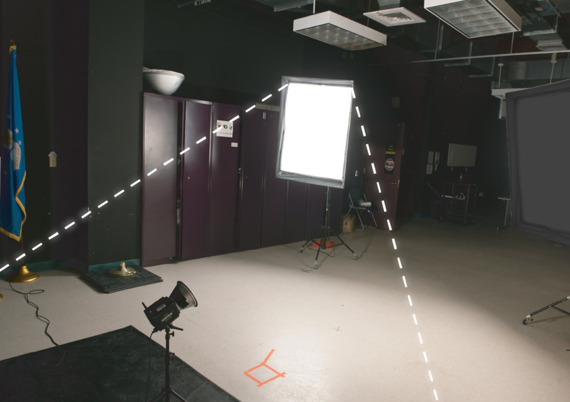The main light that established exposure and is the primary, brightest source of light in a studio setting.