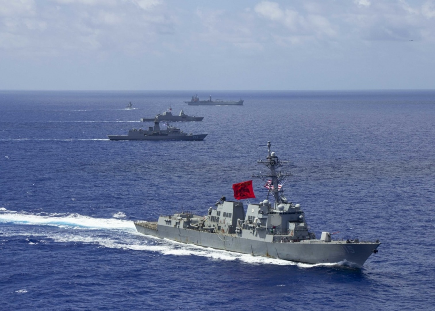 U.S. Warship Joins Partners for Multinational Group Sail