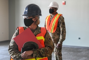 Col. Jennifer Reeves, 341st Missile Wing commander, tours the new Tactical Response Force/Helicopter Operations Alert Facility during a ribbon-cutting ceremony Aug. 4, 2020, at Malmstrom Air Force Base, Mont.