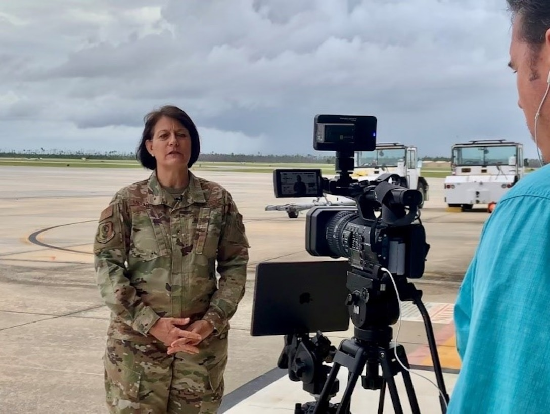 Brig. Gen. Patrice Melancon, Tyndall Program Management Office executive director, delivers her keynote speech, Envisioning and Building a Digitally-Integrated Base of the Future, during the virtual AFWERX Fusion 2020 Base of the Future event July 28, 2020.