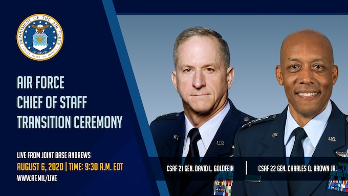 Air Force Chief of Staff Transition Ceremony Graphics