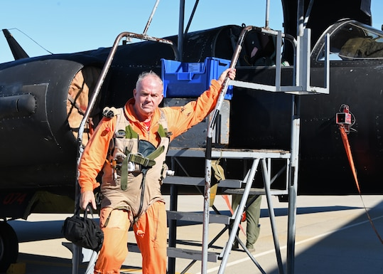 Photo of retired Lt. Col. Jonathan Huggins, 1st Reconnaissance Squadron U-2 flight instructor pilot,