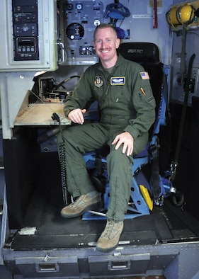 Tech. Sgt. Ryan Garrett, 89th Airlift Squadron C-17 Globemaster III loadmaster, is the 445th Airlift Wing August Spotlight Performer. (U.S. Air Force photo/Senior Airman Angela Jackson)