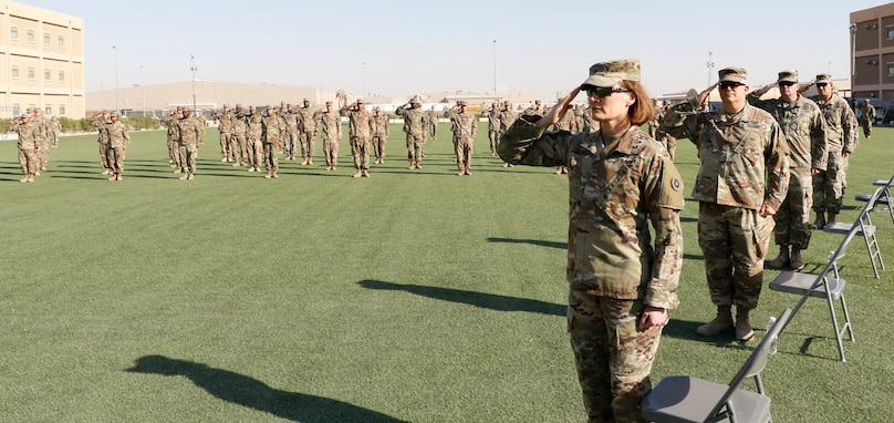 Soldiers Graduate from eBLC at Camp Arifjan, Kuwait