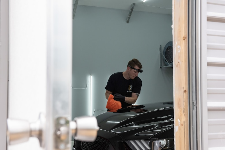 Senior Airman Teddy Michon, a public affairs specialist for the 167th Airlift Wing and owner/operates of Drexel Detailing LLC,  says the skills and training he's received in the military has helped him be a better person and a better business owner.