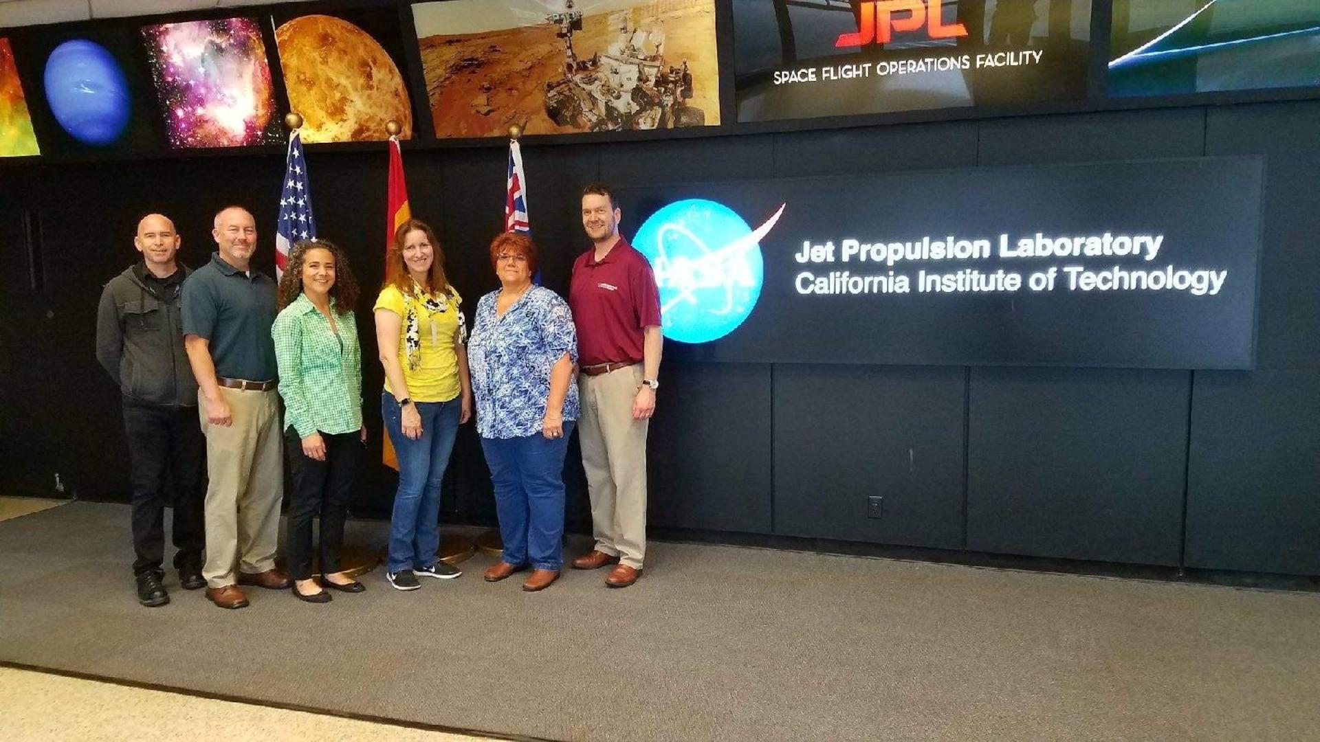 DLA Energy Aerospace Energy employees outside NASA's Jet Propulsion Laboratory