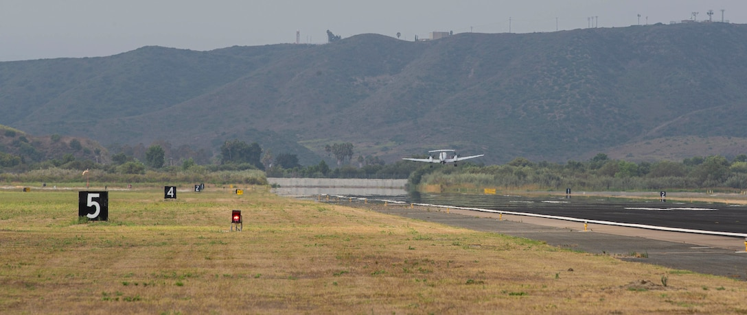 A U.S. Marine UC-12W Huron takes off at MCAS Camp Pendleton, Calif., Aug. 4.