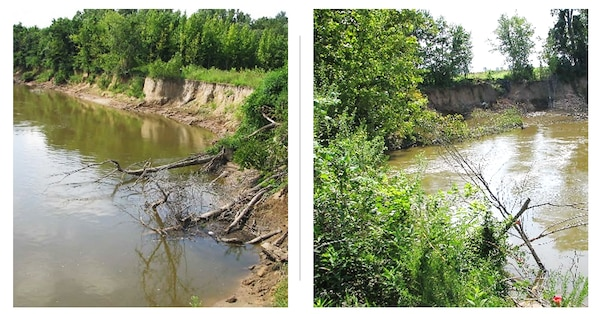 IN THE PHOTO, shows some of the erosion the project will address.