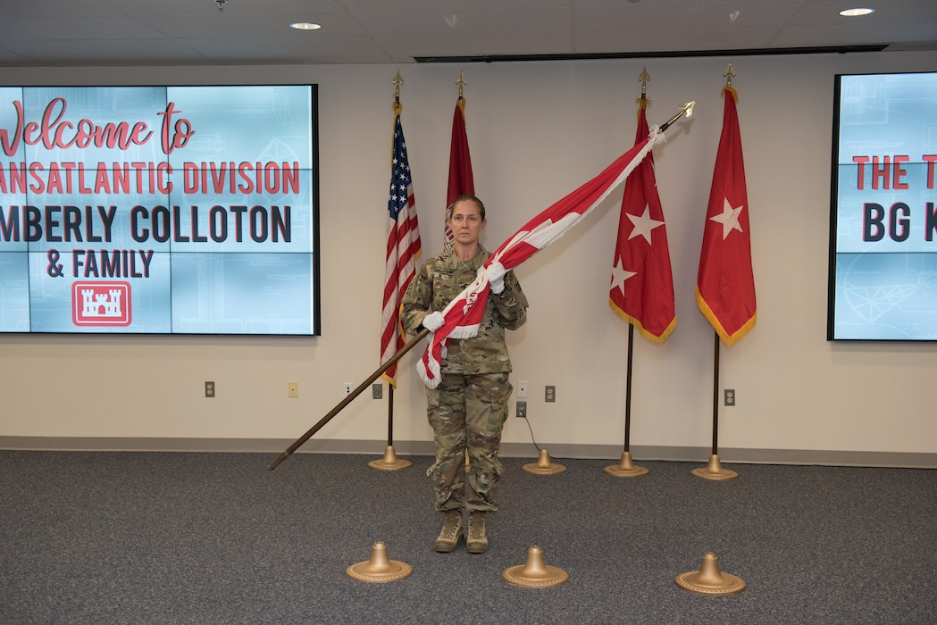 Brig. Gen. Kimberly Colloton assumed the role of Commander and Division Engineer for the U.S. Army Corps of Engineers Transatlantic Division (TAD), July 24, in a ceremony in at Winchester, Va. headquarters.