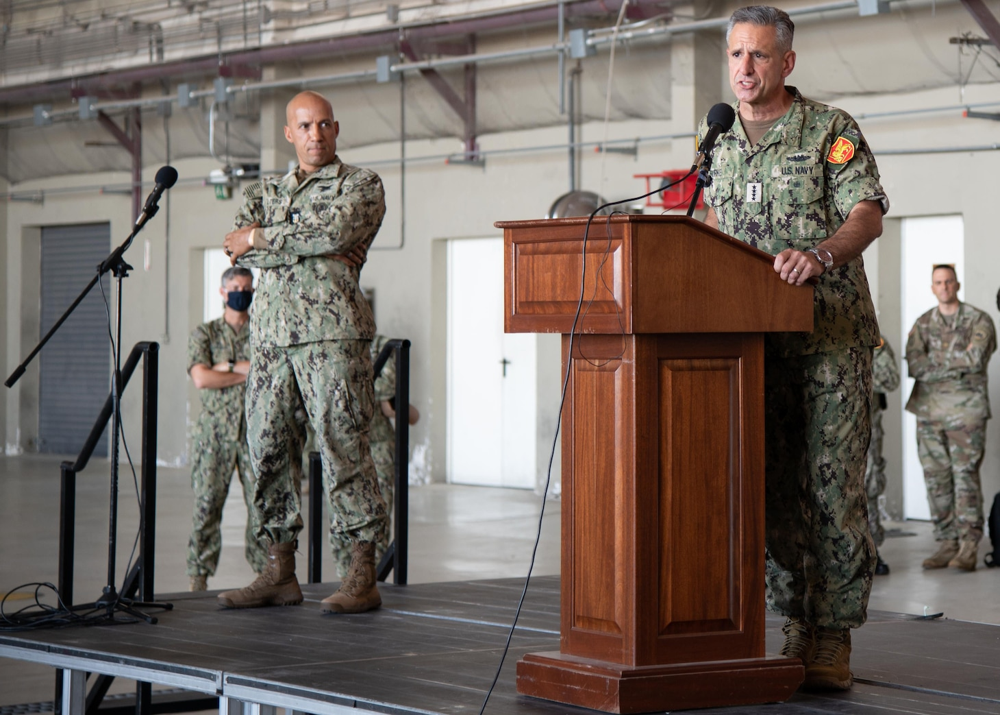 Europe's Top Admiral Visits Critical Naval Air Station in Italy