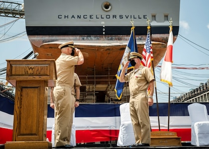USS Chancellorsville Holds Change of Command