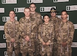 Indiana National Guard Soldiers graduate from the Ivy Tech Community College Cyber Academy Aug. 2, 2019. Front Row: Sgt. Stephen Carlile, 76th Infantry Brigade Combat Team; Spc. James Gill, 2/150 Field Artillery; Spc. Sophia Balderas, 76th Brigade Engineer Battalion; Spc. Caleb Murphy, 151 Heavy Infantry, D Co. Back Row: Spc. Nathaniel Musick, 219th Engineering Brigade; Cpl. Luis Diaz-Sanchez, 1/152 Cav.