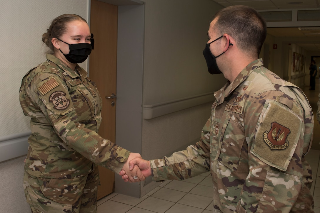 U.S. Air Force acting command chief coins U.S. Air Force Airman.