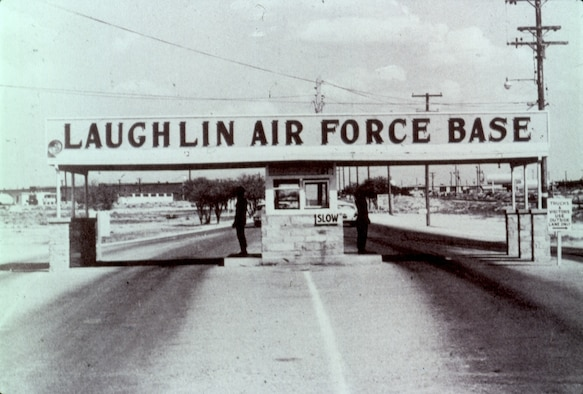 A photo of the old entrance to Laughlin Air Force Base, Texas
