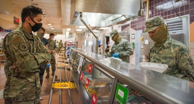 Holloman dining facility adjusts to pandemic