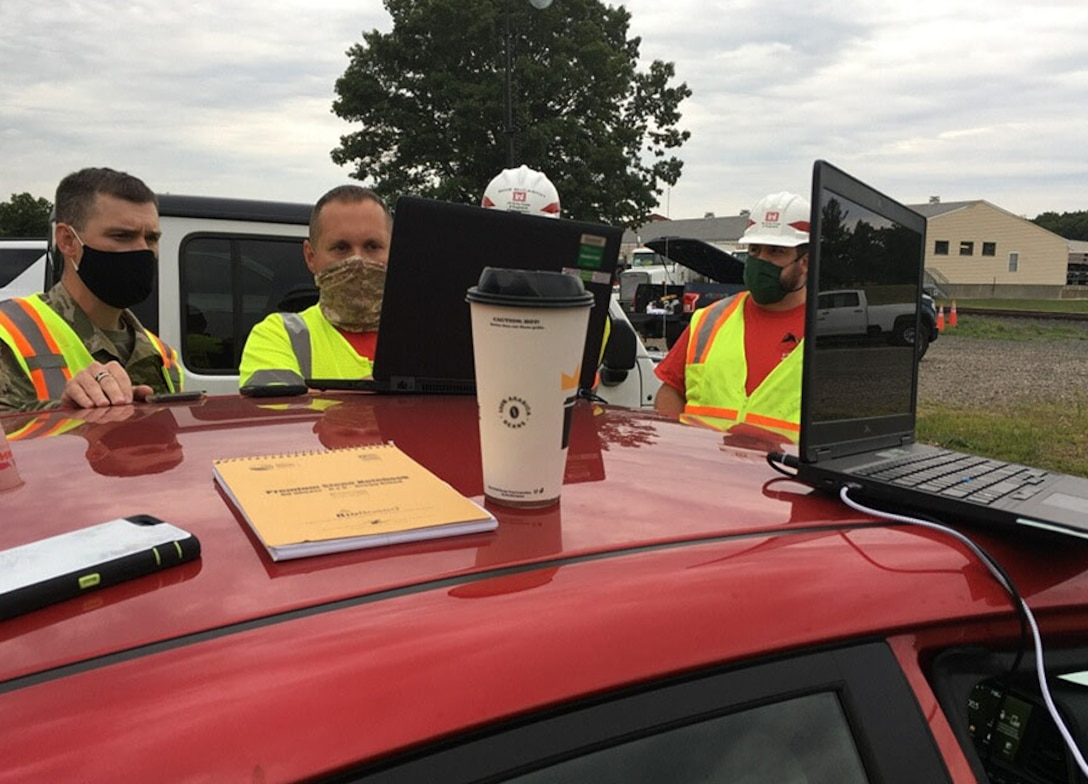 The U.S. Army Corps of Engineers Pittsburgh District's temporary emergency power planning and response team deployed to Connecticut to provide generator power to critical facilities in the aftermath of Tropical Storm Isaias, Aug. 7.