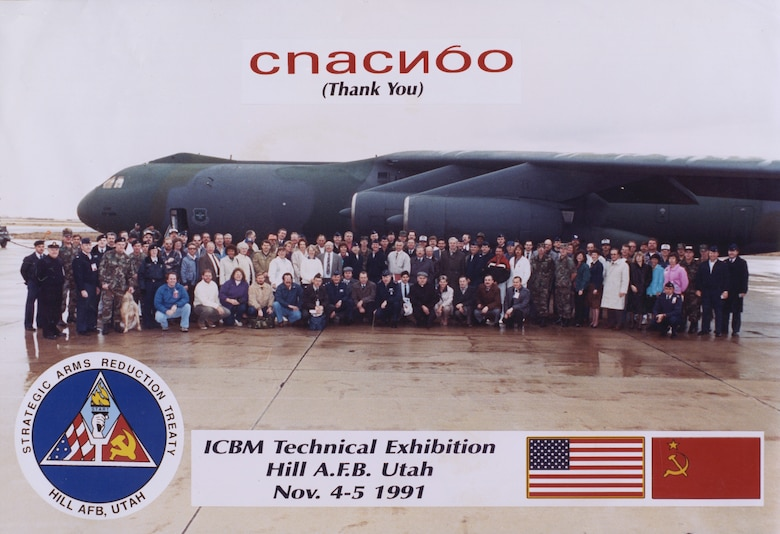 Hill AFB hosted 15 Soviet inspectors for an ICBM Technical Exhibition Nov. 4-5, 1991. This inspection played an important role in moving the implementation of the Strategic Arms Reduction Treaty forward because it showed the two sides could work together – making the treaty enforceable.